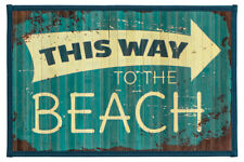 """Laser Printed Split Bamboo 12""""x18"""" Placemat, Set of 6 - To The Beach"""