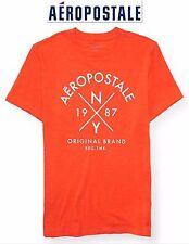 NWT Aeropostale Men's 2XL Graphic T Shirt XXL Orange 2X Great Logo Top New!!