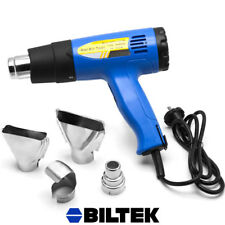 1500W Professional Heat Gun w/ Accessories Shrink Wrapping 4 Nozzles Vinyl Film