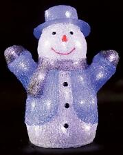Indoor 34cm Led Acrylic Snowman Xmas Decoration Christmas Display Light Up