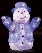Interiores 34cm LED Acrílico Muñeco de Nieve Navidad Decoración Navidad Pantalla de luz