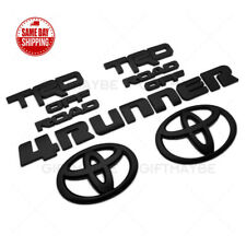 14-20 Toyota 4Runner Trd Off Road Black Out Overlay Add-On Cover Emblem Kit Set (Fits: Toyota)