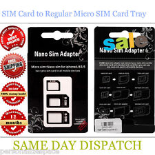 3 in 1  SIM Card to Regular Micro SIM Card Tray Adapter Holder iPhone 5 4 3