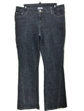 "METRO 7 Womens Size 14 Boot Cut Denim Black Jeans 31"" Inseam Flap Back Pockets"