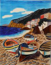 Fishing Boats In Greece - Decorative Art By Beautyful Decor
