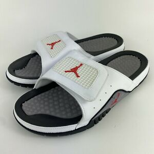 Nike Air Jordan Hydro 4 Retro 'White Cement' 532225-116 Men's Size 13