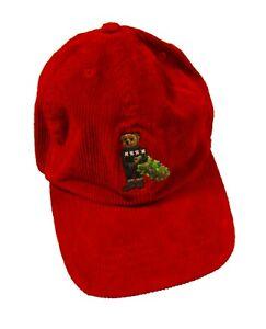 Polo Ralph Lauren Boys Red Polo Bear Christmas Tree Corduroy Baseball Hat