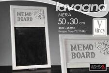LAVAGNA H51*30 CM LAVAGNETTA MEMO NOTES NERA LEGNO ROSE 662355