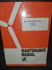 Mazak, maintenance manual
