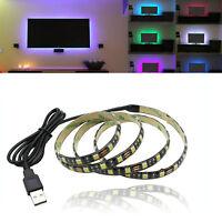 USB Powered 5V RGB LED Strip Light Backlight for LCD TV PC Computer Case Monitor