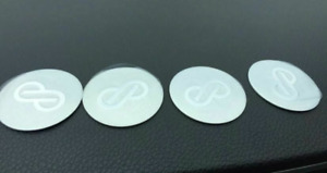 4pcs 45mm Enkei Silver Wheel Center Stickers Rim Stickers Hub Stickers Badges