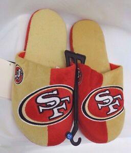 San Francisco 49ers Men's Split Color Slide Slippers Forever Collectibles