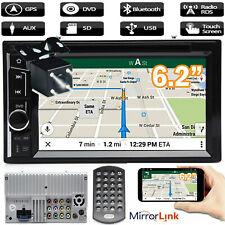 Car Stereo Bluetooth Radio 2 Din CD DVD FM AM Player MirrorLink For GPS + Camera