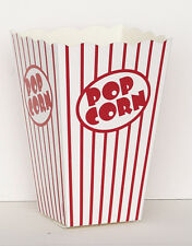 CIRCUS BIRTHDAY PARTY POPCORN BOXES 10PK MOVIE NIGHT SLEEPOVER CARNIVAL RED WHIT