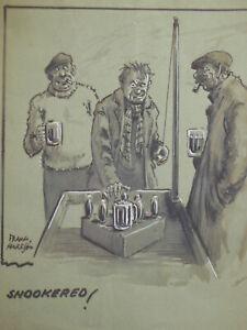 ORIGINAL Frank Harrison Cartoon (c1920s) Beer, Cider, Art, Pub, Bar Humour Funny