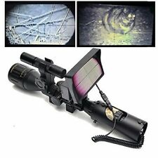 6-24X50 DIY Night Vision INCLUDING SCOPE w/ CCD and Laser Flashlight for RIFLE