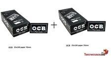 5000 Cartine Corte Doppie Ocb Nero Black 2 Box Da 25 Libretti Di 100 Cartine