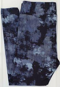 TC LuLaRoe Tall & Curvy Leggings Gorgeous Blue Dark Navy Tie Dye NWT F57