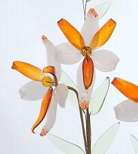 Tabella Fiore Decorazione Ornamento in Vetro Fiore con VASO buon regalo per mommy NUOVO