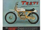Pubblicità 1970 MOTO TESTI CARABO CROSS advertising werbung publicitè reklame