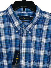 Polo Ralph Lauren Performance Long Sleeve Shirt 2XLT 3XLT 4XLT NEW $125 Blue