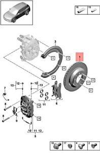 Genuine PORSCHE Cayenne 9YA Brake Disc 9Y0615601A