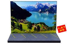 Diorama Lac suisse   Swiss lake - 1/87ème (HO) - #HO-2-A-A-101
