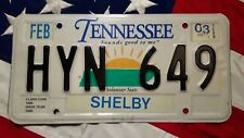 TENNESSEE license licence plate plates USA NUMBER AMERICAN REGISTRATION