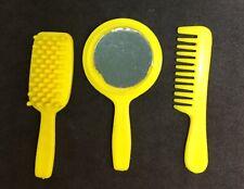 Arco Beauty Salon Accessory –Yellow Vanity Set (Brush Comb Mirror Playset PU)