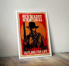 RED DEAD REDEMPTION II 2 Gaming Video Game Poster Print A4 SIZE Glossy