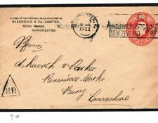 GB Cover 1922 REDUCED RATE STATIONERY Manchester INSPECTORS MARK Triangle E196