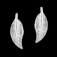 925 ECHT SILBER 🍂 Ohrstecker Ohrringe Blatt 12 mm