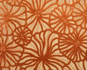 'Lalique' velvet upholstery fabric by Sunbury Design, mango, by the metre