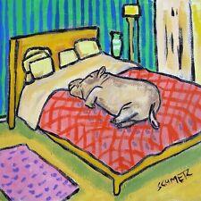 8X8 8X8 hippopotamus taking a nap animal ceramic hippo art tile