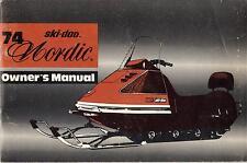 1974 SKI-DOO NORDIC SNOWMOBILE P/N 480-0083 OPERATORS/OWNER'S  MANUAL (198)