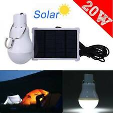 Solar 20W Powered LED Light Bulbs Outdoor Indoor Camping Tent Rechargeable Lamp