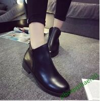 Black Women's Shoes Casual Ankle Boots New Fashion Winter Size Stylish US8