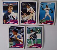 1989 Topps Traded Cleveland Indians Team Set of 5 Baseball Cards