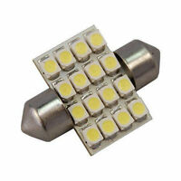 HQRP 31mm Festoon LED 16-SMD 3528 Bulb for Car Interior Dome License Plate Light