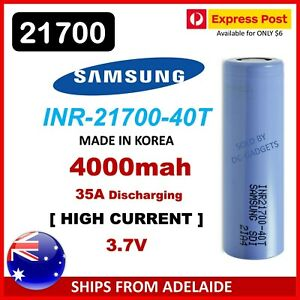 Samsung 40T INR 21700 4000mAh 35Amp Lithium Li-Ion Rechargeable Batteries