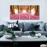 colourful Flowers Landscape Nature canvas Picture Print 20x40 inch ready to hang