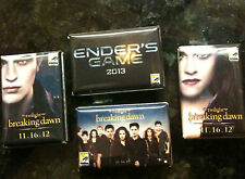 SDCC 2012 Comic Con SDCC 2012 Twilight Saga-Breaking Dawn, Pins w/ Enders Game!!