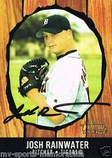 JOSH RAINWATER SIGNED 2003 BOWMAN HERITAGE FIRST CARD ~AUTHENTIC/ JSA (SPENCE)