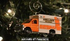 Custom Ford F350 Ambulance Rescue EMT Christmas Ornament 1/64 Scale Adorno F 350