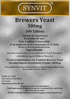 Brewers Yeast SYNVIT 500 TABLETS