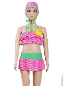 Chicas Rosa Unicornio Protección Solar UV40 traje de baño y sombrero conjunto Sunsafe Nuevo BNWT
