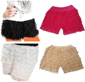 A-Express® Lace Hot Pants Ruffle Knicker Underwear Mini Skirt Shorts Skorts UK