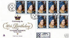 4 AUGUST 1980 QUEEN MOTHER 80th BIRTHDAY FD COVER BUCKINGHAM PALACE COURT CDS