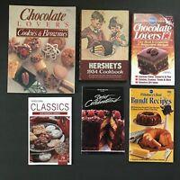 Lot 6 Chocolate Baking Cookbooks Hersheys Pillsbury Bundt Nestle Cookies Recipes