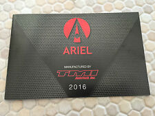 ARIEL ATOM 3  3S  & SRA OFFICIAL ORIGINAL SALES BROCHURE 2016 USA EDITION RARE